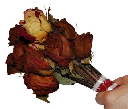 dried bouquet of roses