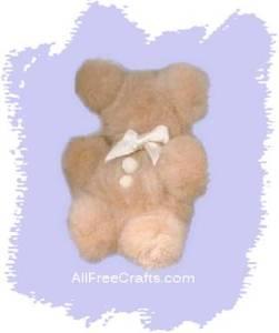 homemade pompom teddy bear