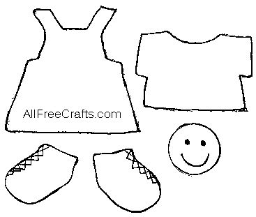 Craft Stick Doll with Printable Clothes Pattern