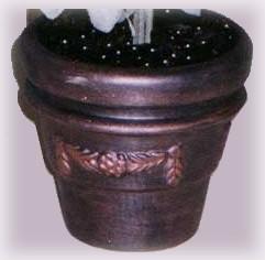 faux aged copper clay pot