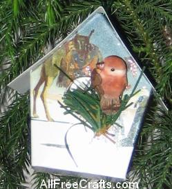 brown bird card house