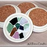 Mosaic Clay Saucer Coasters