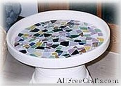 top of mosaic clay pot table
