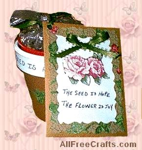 seed packet and pot homemade gift