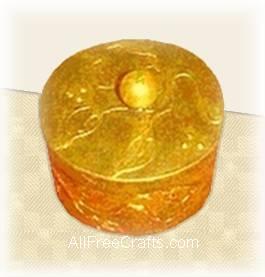 gold leaf paper mache box