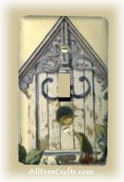 wallpapered switch plate