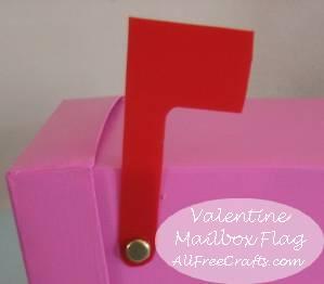 homemade valentine mailbox flag