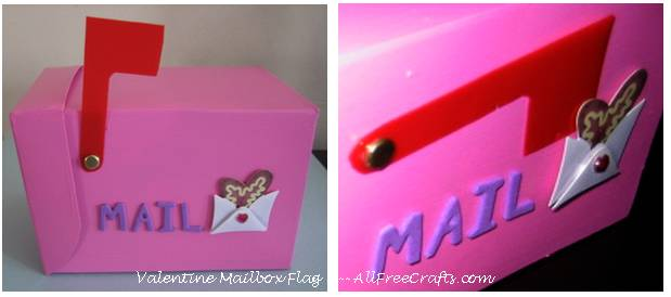 Valentine mailbox flag - open and closed