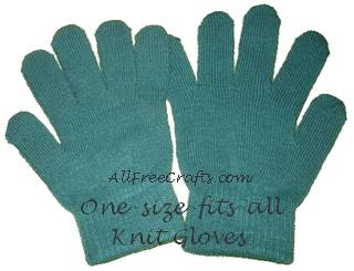 one-size-fits-all knit gloves