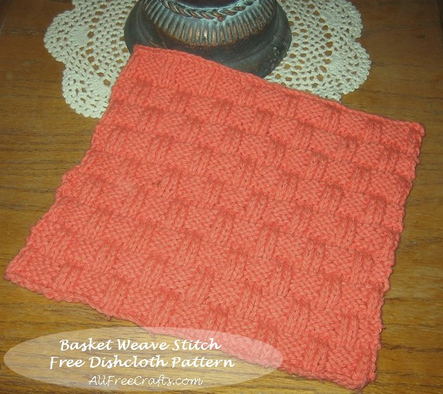 Knitting Basket Weave : Basket weave dishcloth knitting pattern free