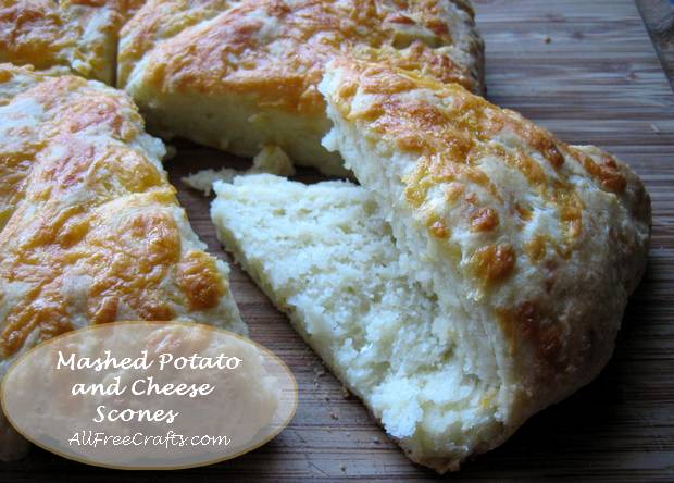 mashed potato and cheese scones