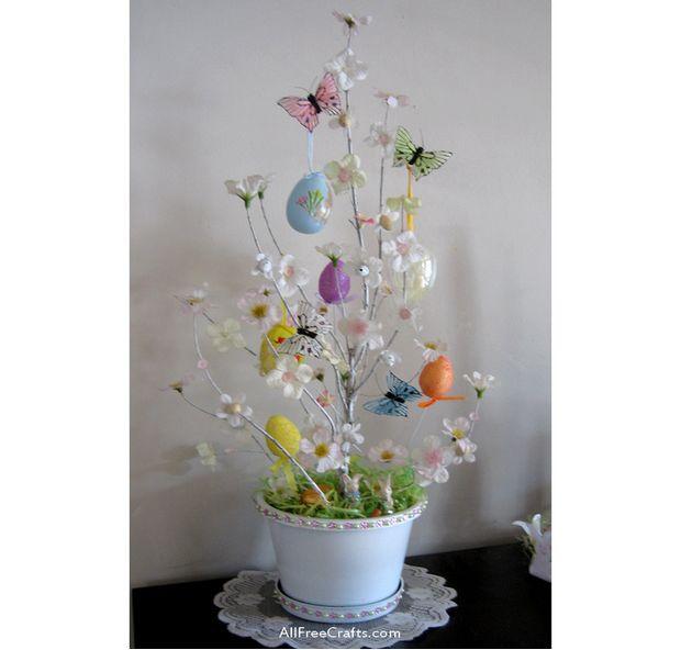 homemade Easter Tree