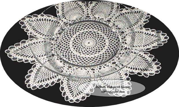 crocheted pineapple place doily