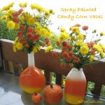 recycled candy corn vases
