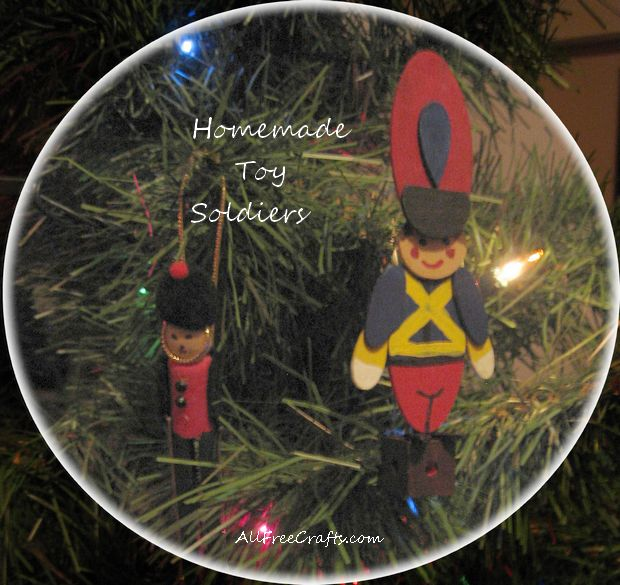homemade woodsy toy soldiers