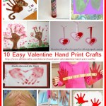 10 Easy Valentine Hand Print Crafts