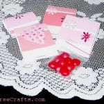 Paint Chip Valentine Treats