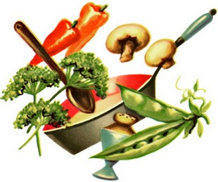 parsley and vegetables