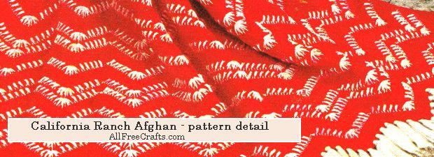 ranch afghan pattern detail