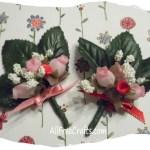 homemade Valentine rosebud posies