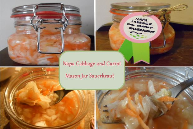 napa cabbage and carrot sauerkraut