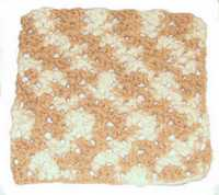 coffee cream dishcloth