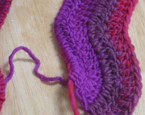 ripplewave stitch detail