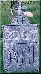 R.I.P. styrofoam headstone