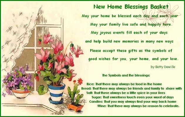 New Home Blessings Basket