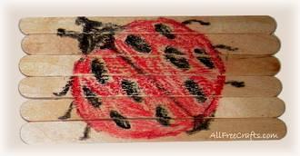 stick puzzle ladybug