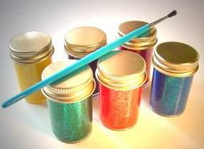 paints in small jars