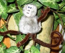 pompom monkey craft