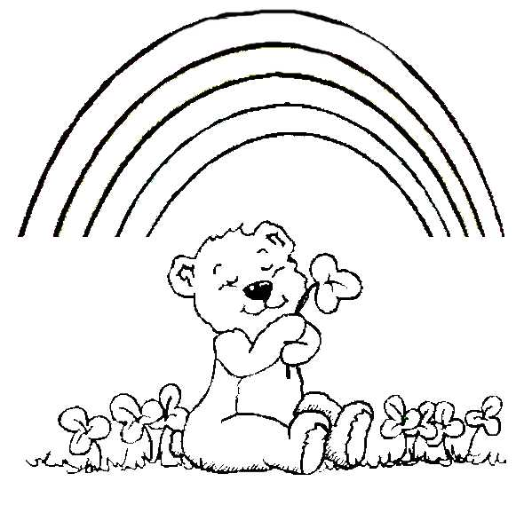 Field of flowers coloring pages printable field best for St patrick s day rainbow coloring pages
