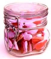 Valentine candy jar