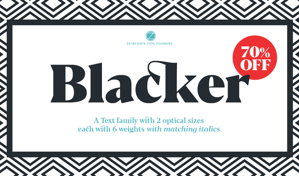 Blacker Font Family