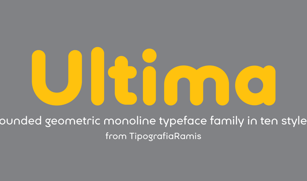 Ultima font family