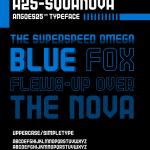 A25-Squanova font