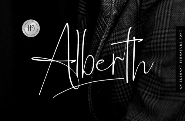Alberth font