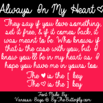 Always In My Heart font