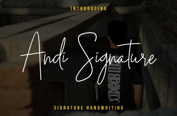 Andi Signature font