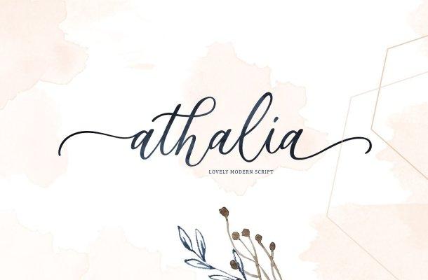Athalia Script Font