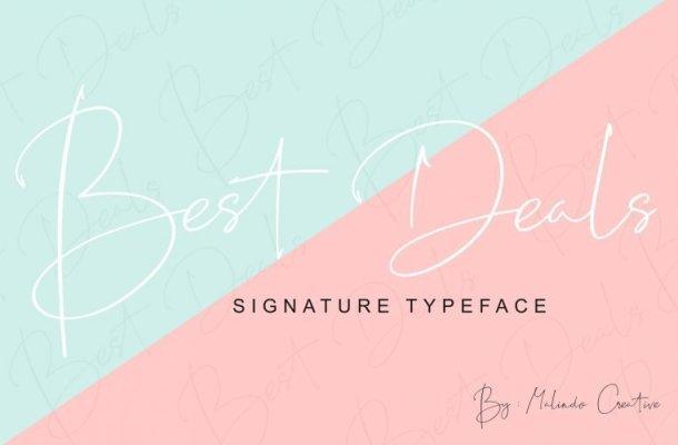 Best Deals Script Font