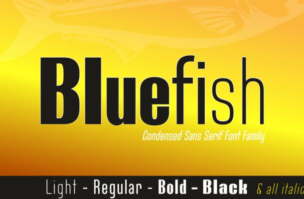 Bluefish font