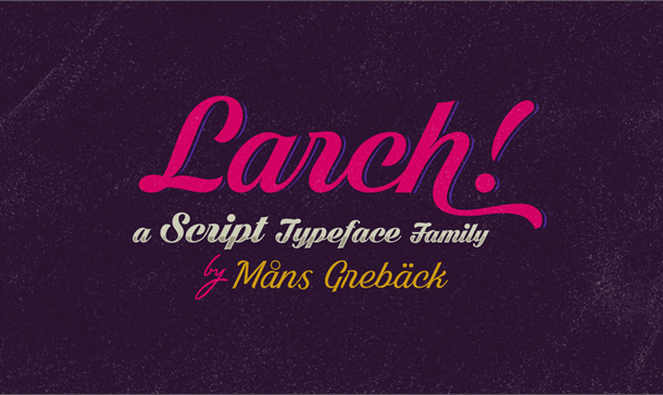 Dark Larch PERSONAL USE ONLY Font
