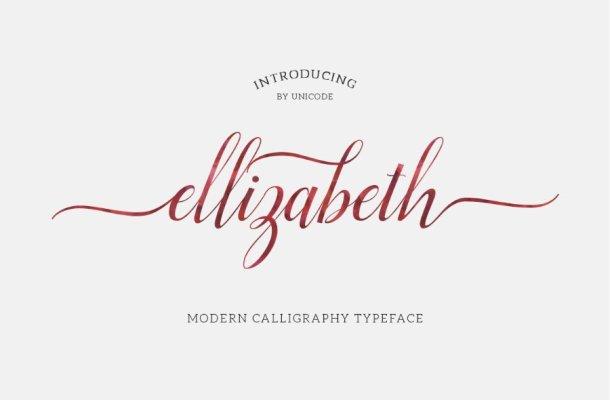 Elizabeth Script Font