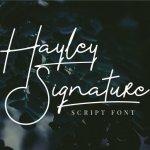 Hayley Signature Font