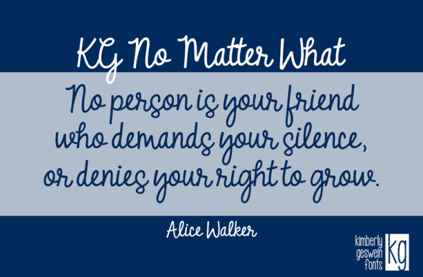 KG No Matter What font