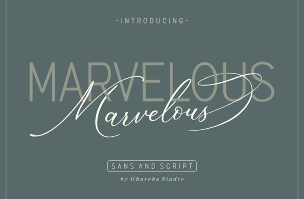 Marvelous Sans font