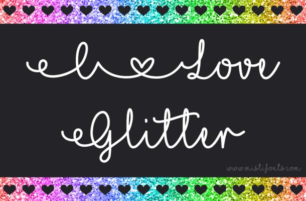 Mf I Love Glitter font