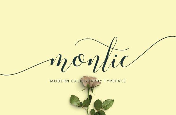 Montic Script Font